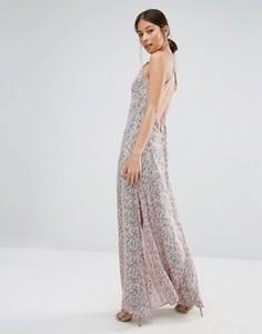 Платье макси с принтом Goldie Elegance - Мульти
