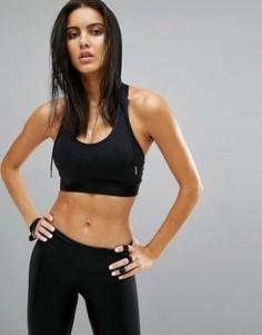 Спортивный бюстгальтер с капюшоном Haute Body - Черный