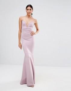 Платье макси бандо Missguided - Фиолетовый