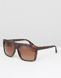 Солнцезащитные очки в черепаховой оправе Pieces - Коричневый