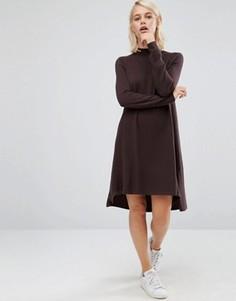 Трикотажное платье‑туника из кашемировой смеси ASOS - Коричневый