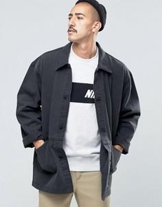 Черная джинсовая куртка ASOS - Черный