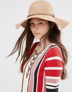 Широкополая шляпа в стиле 70‑х Alice Hannah - Бежевый