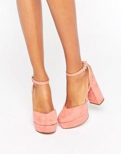 Туфли на каблуке и платформе с ремешком на щиколотке ALDO Shery - Розовый