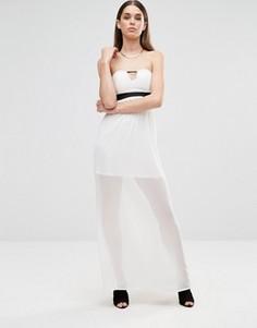 Платье макси без рукавов с вырезом Twin Sister - Кремовый