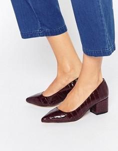 Туфли на среднем каблуке с острым носком Carvela Knock - Красный