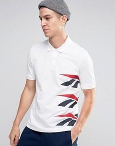 Белая футболка-поло с логотипом Reebok Vector AZ9544 - Белый