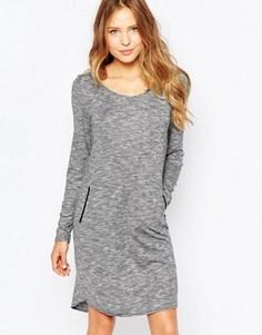 Платье-джемпер с длинными рукавами Ichi - Серый