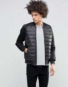 Стеганая куртка с неопреновыми рукавами Brave Soul - Черный