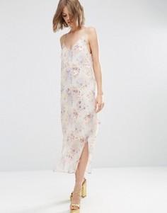 Декорированное платье‑сорочка с принтом ASOS PREMIUM - Мульти