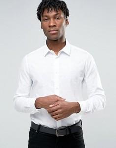 Строгая рубашка узкого кроя с принтом Devils Advocate - Белый
