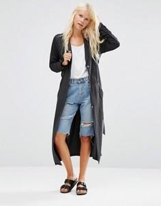 Удлиненная драпированная куртка Minimum Katy - Черный