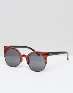 Солнцезащитные очки в полосатой оправе Vans Halls & Woods - Красный