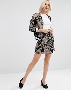 Комбинируемая жаккардовая мини-юбка в строгом стиле ASOS - Мульти