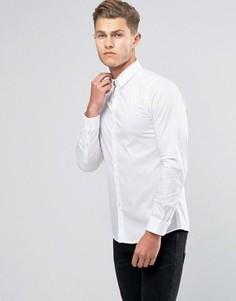 Стретчевая рубашка зауженного кроя United Colors of Benetton - Белый