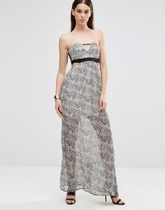 Платье макси без рукавов с вырезом Twin Sister - Мульти
