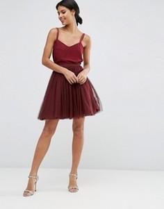 Многослойная юбка мини для выпускного ASOS - Красный