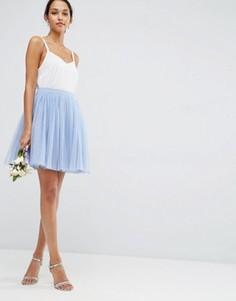 Многослойная юбка мини для выпускного ASOS - Синий