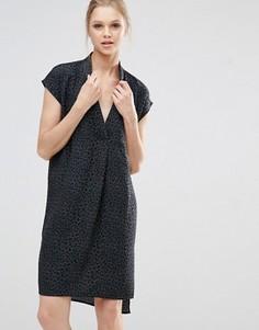 Платье с леопардовым принтом Y.A.S - Серый