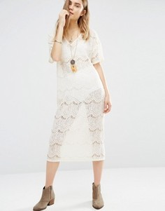 Ажурное фестивальное платье First & I - Белый