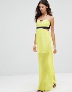 Платье макси без рукавов с вырезом Twin Sister - Желтый