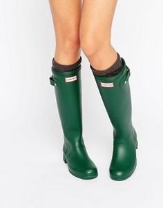Зеленые резиновые сапоги Hunter Original Tour Hunter - Зеленый