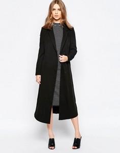 Удлиненное пальто бойфренда Minimum Moves - Черный