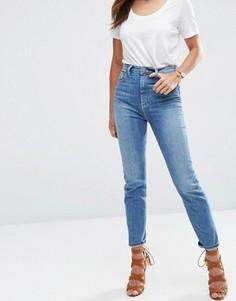 Синие выбеленные джинсы в винтажном стиле ASOS FARLEIGH - Синий