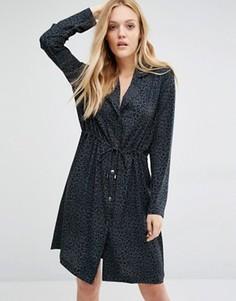 Свободное платье с леопардовым принтом Y.A.S - Серый