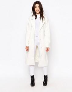 Куртка в клетку Ichi Talla - Белый