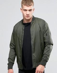 Легкая нейлоновая куртка-пилот Jack & Jones - Зеленый