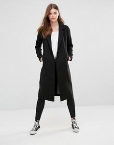 Шерстяное пальто макси Only - Черный