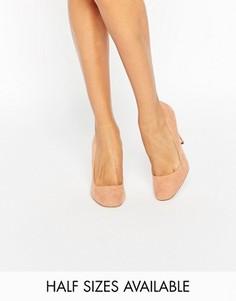Туфли на высоком каблуке с квадратным носком ASOS PLAYTIME - Бежевый