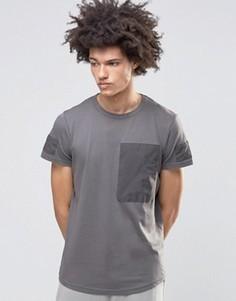 Выбеленная футболка Systvm Zane - Серый