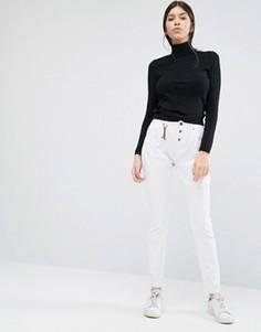 Белые облегающие брюки Vero Moda L34 - Белый