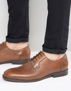 Светло-коричневые кожаные туфли Selected Antonio - Коричневый