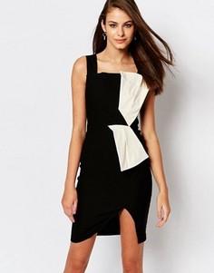 Платье миди с контрастной вставкой Vesper Hallie - Кремовый