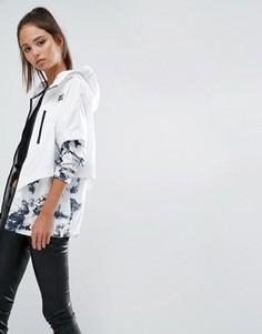 Складывающаяся куртка с принтом Nike - Белый