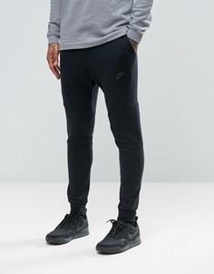 Черные флисовые джоггеры скинни Nike Tech 805162-010 - Черный