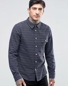 Фланелевая рубашка с узором Another Influence - Темно-синий