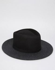 Шляпа с плоской круглой тульей и загнутыми кверху широкими полями ASOS - Мульти