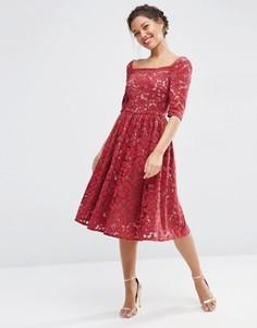 Кружевное платье для выпускного ASOS WEDDING - Красный