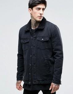 Куртка на подкладке борг Dr Denim Ior - Черный