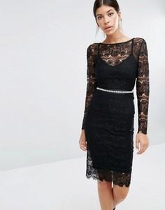 Кружевное платье с моделирующим эффектом Body Frock Sylvie - Черный