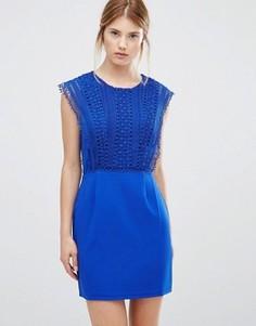Платье с кружевной отделкой Greylin Esme - Синий
