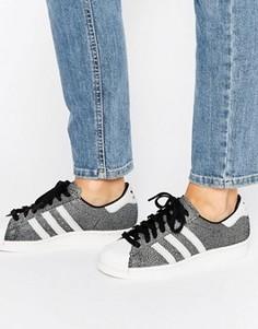 Кроссовки с принтом металлик adidas Originals Superstar - Черный