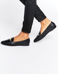 Туфли на плоской подошве с острым носом ASOS MARSHA - Черный