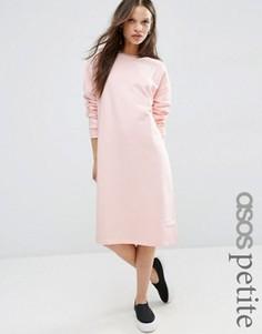 Трикотажное oversize-платье ASOS PETITE - Розовый