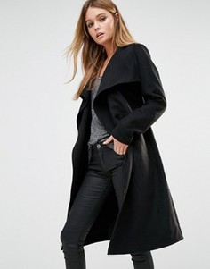 Пальто с запахом Only - Черный
