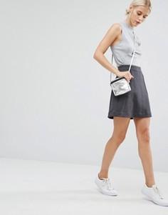 Юбка-трапеция с карманами Monki - Серый